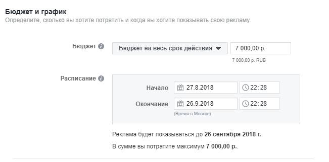 лимиты Facebook